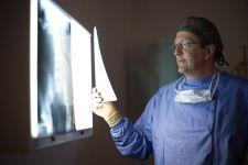 surgeon holding xray