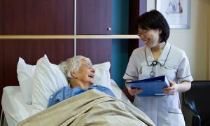 Cardiologist visiting a patient